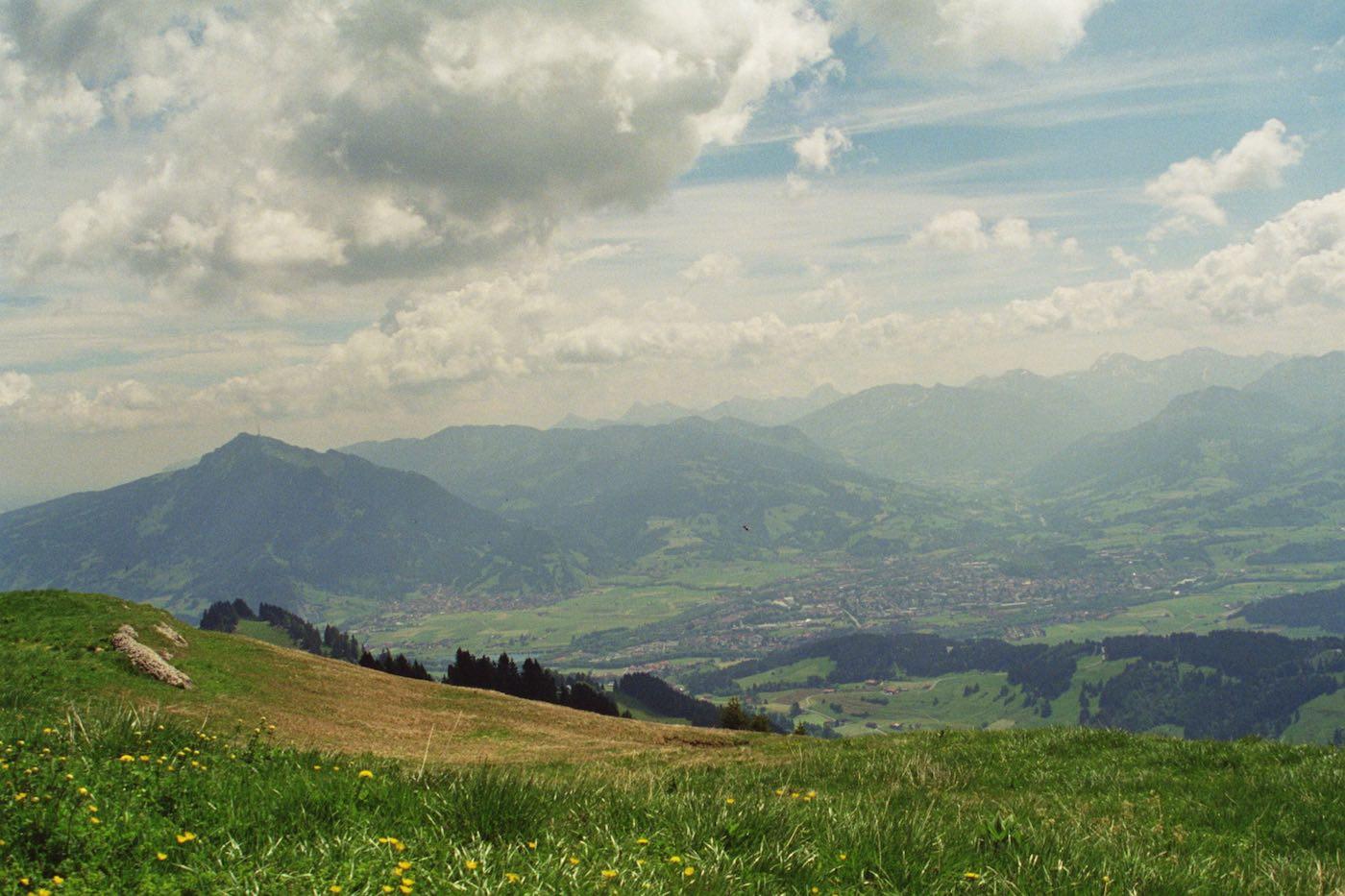 Steinberg Blick auf Sonthofen