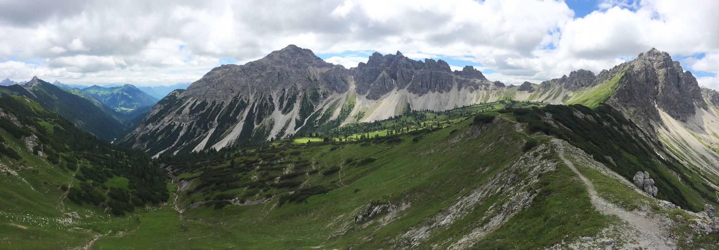 Panorama Birkental mit Leilachspitze