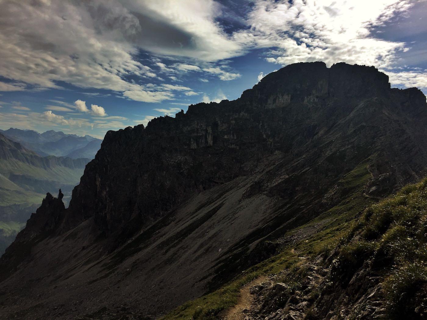 Einstieg zum Mindelheimer Klettersteig