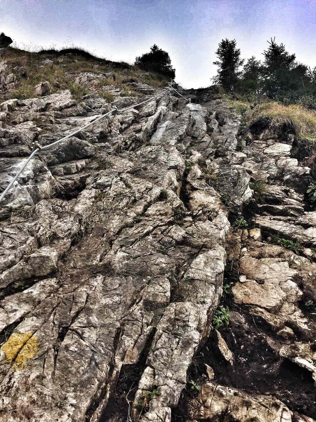 Kletterei zum Sorgschrofen Gipfel