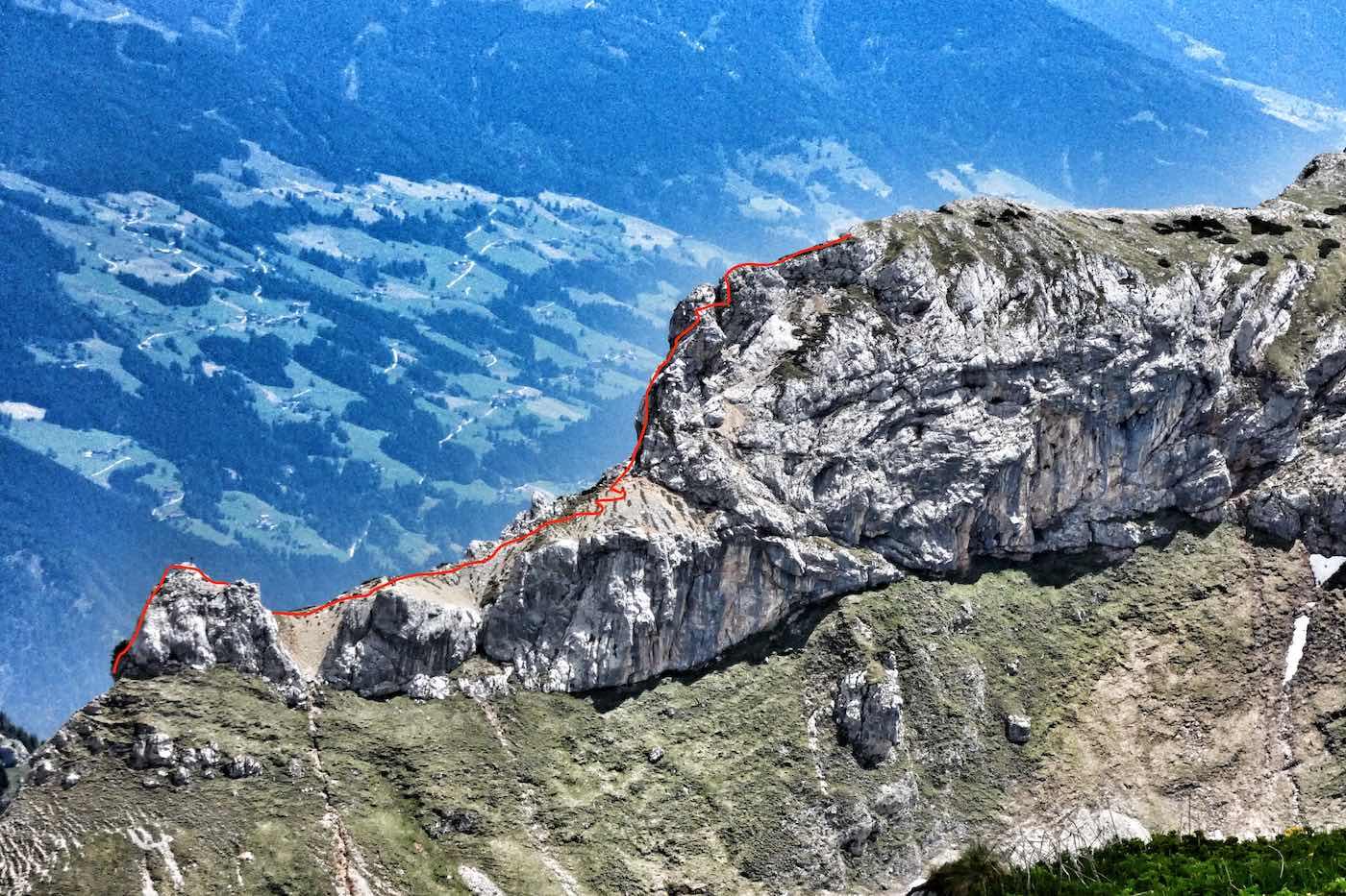 Klettersteig Heidachstellwand