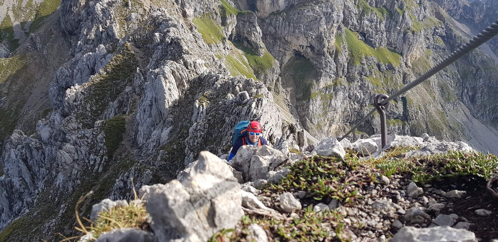 Aufstieg zur Südlichen Linderspitze