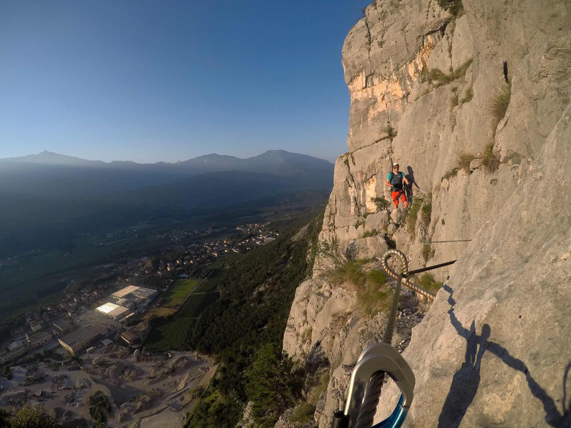 Tolle Eindrücke im Klettersteig