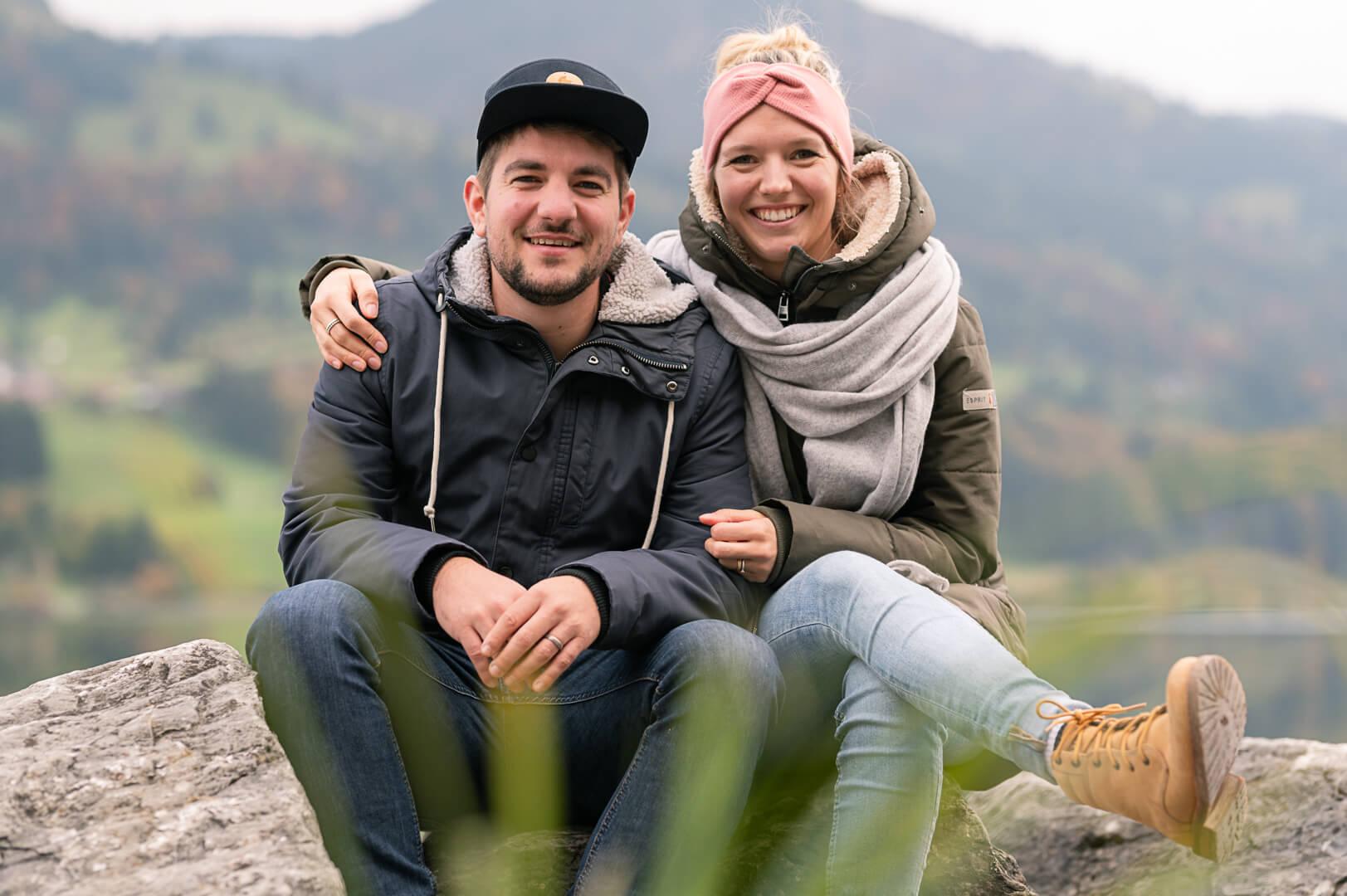 Adrian Riedle und seine Frau Martine - Foto ©Janik Steiner