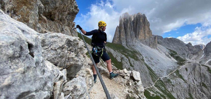 Die ersten Meter im Rotwand Klettersteig